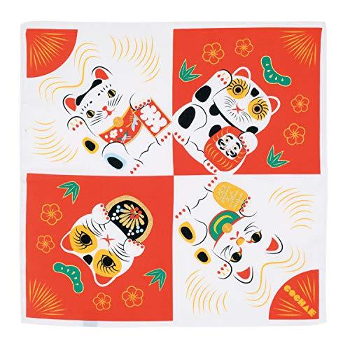 Furoshiki goldmane kineko, japonés–Toalla con diseño de Gato de