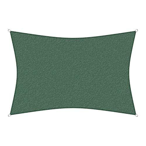 sunprotect 83245 Professionnel Voile d'Ombrage, 6 x 4 m, rectangle, vert