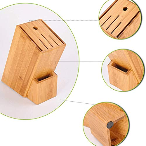 Stammen Bamboo Mes Blocks Knife Holder Drain Rack, Keuken Rack Storage Organisatie, Opslag Meshouder Messenblok Kitchen Accessories Supplies,Beige