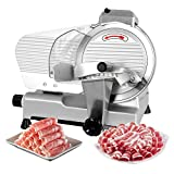 ZENY Semi-Auto Meat Slicer Stainless Steel 10' Blade Electric Deli Food Veggies Cutter for...