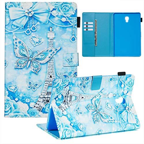Careynoce Samsung Galaxy Tab A 10.5 2019 Funda,Tigre Gato Sol Panda Pattern PU Cuero Cover Stand Flip Funda Carcasas para Samsung Galaxy Tab A 10.5' SM-T590/T595 2019 Tableta Funda - Mariposa Azul