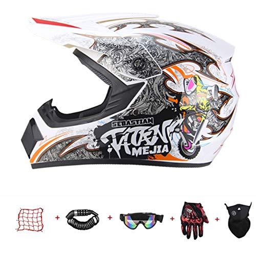 YLWZZ Casco Offroad Offroad para niños, casco integral para bicicleta de montaña,...