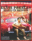 ELVIS PRESLEY MARILYN MONROE CALENDAR 2022\2023: elvis Presley Calendar 2022 and marilyn monroe monthly calendar , 18 months , 2022 size 8.5x11 inch ... quality images 50s 60s Singers Icon GLOSSY