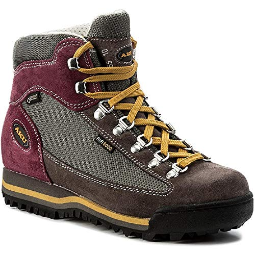 AKU ULTRALIGHT MICRO GTX, Scarpa Mid trekking / escursionismo, membrana Gore Tex e suola Vibram, col. Grey / Magenta (38)