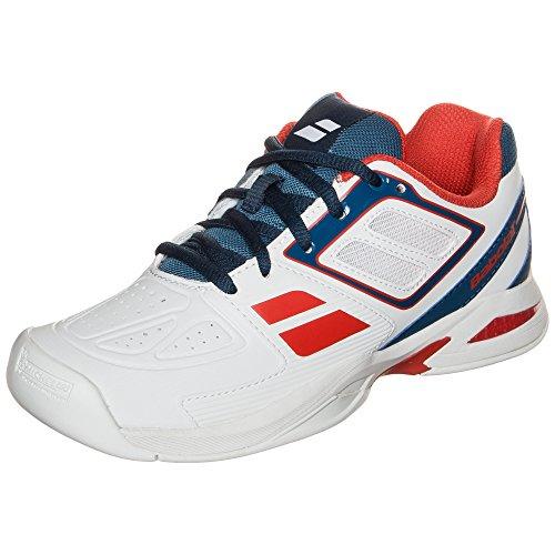 Babolat Kinder Indoor Tennis-Schuhe Propulse Jr Weiss (10) 35,5