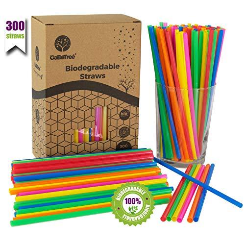 GoBeTree 300 pajitas de plástico pla Biodegradable de