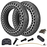 HORO.ES Pack/Kit de Neumáticos Macizos 10' Pulgadas con Alzador Piezas 3D para Xiaomi Scooter M365/PRO/ESSENTIAL (Kit 10')