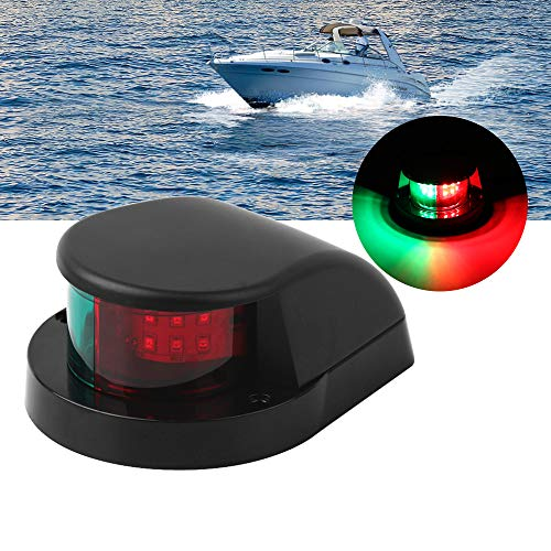 Osinmax Boat Navigation Light, LED Bow Light for Boat,Marine LED Navigation Lights. Perfect Boat Front Light to Small Boat and Pontoon (Black)