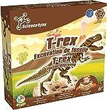 Science4You - Kit Archéologie Enfant - Jeu Scientifique et Educatif - Dinosaure et T-Rex à Déterrer et Construire - Jouet Enfant - Coffret Scientifique Découverte - Cadeau Enfant Dès 6 ans