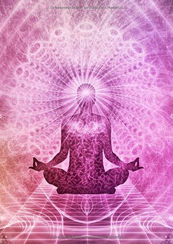 NOTIZBUCH A4 BLANKO: 110 Seiten Leer | Journal zum Gestalten, Hand Lettering, Skizzenbuch, Notizheft, Blankobuch, Malbuch | Weißes Papier | Soft Cover Gebunden | Yoga Meditation