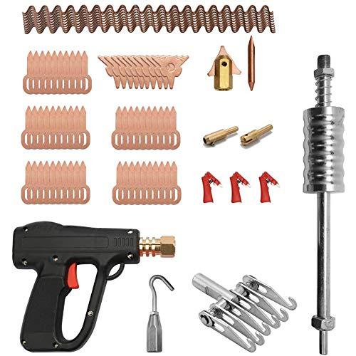 Cestbon 81pcs Auto Dent Puller Kit Karosserie-Reparatur-Werkzeuge Spotter Schweißmaschine Entfernen Dents-Remover-Vorrichtung,Schwarz