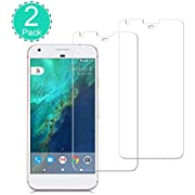 [2 Pack] BBInfinite Google Pixel XL Screen Protector Ultra-Transparent/9H Anti-Scratch/Tempered Glass/2.5D Round/Edge Bubble-Free/Mounting Glass Film Replacement Compatible Google Pixel 5.0 inch