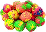 4E's Novelty Water Bomb Splash Balls [24 Pack] Mini 2' Reusable Water Balloons Water Absorbent Ball - Kids Pool Toys, Outdoor Water Activities for Kids, Pool Beach Party Favors. Water Fight Games