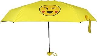 Mini Travel Umbrella - Lightweight Compact Parasol with UV Protection - Portable Folding Golf Umbrella - Yellow