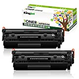Kingjet Tóner Q2612A para HP 12A Q2612A compatible con HP Laserjet 1010 1012 1015 1018 1020 1022 1022N 1022NW 3015 3020 3030 3050 3052 305555 M1005. Impresora M1319F (2 negros).