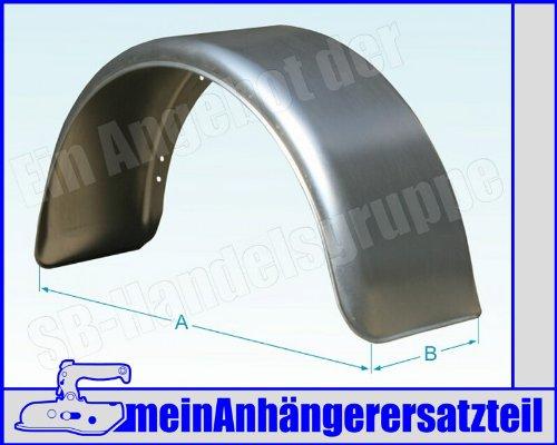 Metall Blech Schutzblech Kotflügel 220x800mm / 22x80 cm für Pkw Anhänger