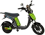 GigaByke Groove 750 Watt Motorized E-Bike - Street Legal Electric Moped with Pedals (2018 Enhanced V2 Version) (Green)