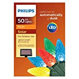Philips 50ct Christmas Solar Faceted C6 Lights Multicolored GW