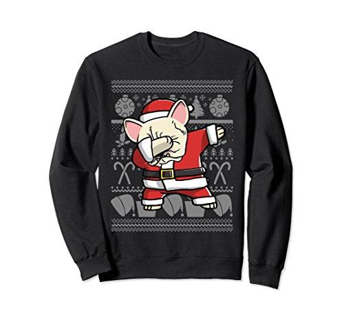 Cream French Bulldog Dabbing Dog Dab Christmas Sweatshirt