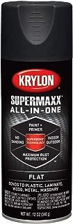 krylon k08970000 supermaxx spray paint, flat black