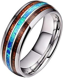 خاتم رجالي من الترايمارك دراجون من الفضة 8 مم من التيتانيوم الصلب خاتم من التنجستين خاتم للرجال خاتم الزفاف