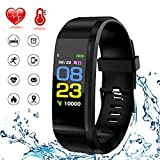Fitness Tracker Watch,WADEO Waterproof Activity Tracker with Heart Rate Monitor and Blood Pressure