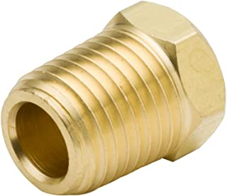 """Legines Brass Pipe Fitting, Hex Head Plug/End/Bung/Stop/Seal, 3/8"""" NPT Male (Pack of 5)"""