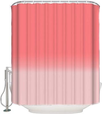 Assanu オレンジとピンクのパターン緑のパターンの装飾部屋の装飾家の臭いが簡単にきれいにするのが簡単な浴室の浴室のホテルのカーテンのシャワーカーテン