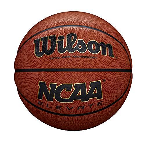 Wilson, Pallone da basket, NCAA Elevate, Arancione, Per adulti, Pelle sintetica, Indoor, Misura 7, WTB2601XD07