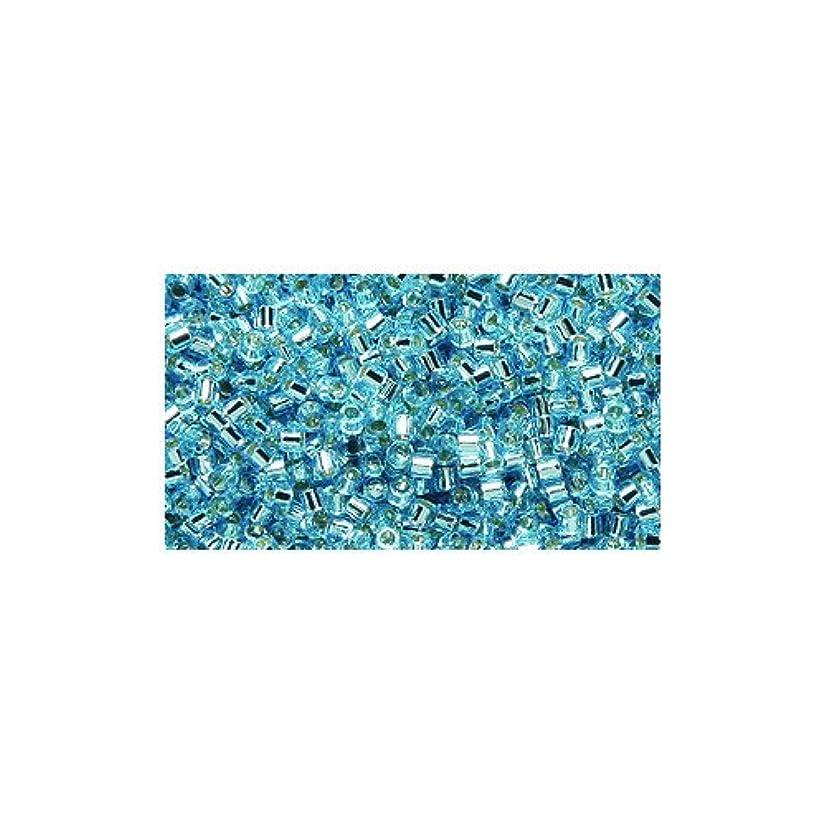 Miyuki Delica Seed Bead 15/0 DBS0044, Silverlined Blue, 9-Gram/Pack