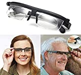 yhsndy Dial Adjustable Glasses Variable Focus,6D To +3D Diopters Variable Lens Correction Glasses,Adjustable Reading Glasses Myopia Eyeglasses,for Reading Distance Vision Unisex Myopia Glasses (1 pcs)
