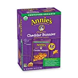 Annie's Organic Cheddar Bunnies Baked Snack Crackers, 12 ct (Pack of 4)