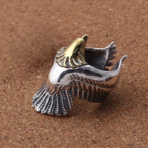 Yarmy ring verstelbaar S925 sterling zilver ingelegd koper metaal punk-adelaar man Thai zilveren ring vriend liefde een verjaardag graduatie geschenk sieraden accessoires voor dames