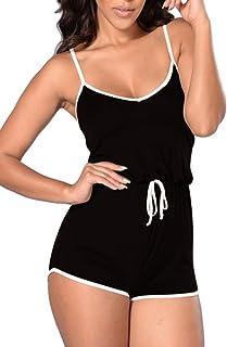 Pink Queen Women s Summer Tank Top Bodycon Shorts Sportswear Romper 890962247