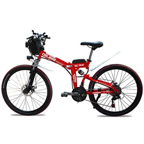 sunyu Bicicleta Eléctrica Plegable, 350 W Motor para Bicicleta De Montaña Eléctrica para Adultos, 26 Pulgadas E-Bike, 36V / 10Ah Ciclomotorred