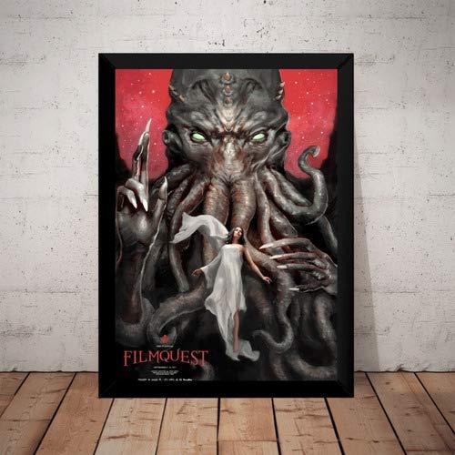 Quadro Decorativo Arte Cthulhu H. P. Lovecraft Terror Horror