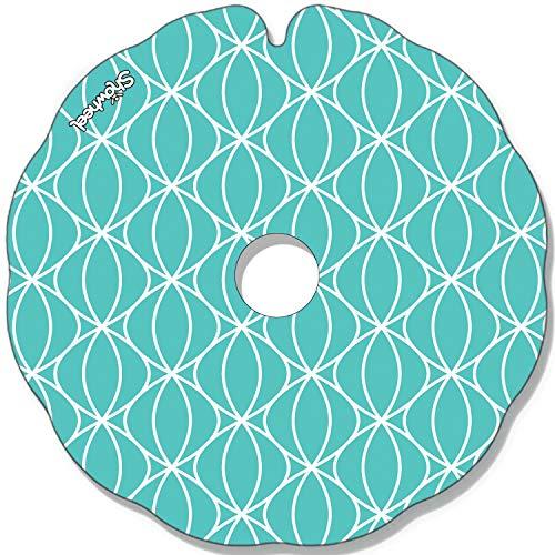 Cubre Radios Silla de Ruedas (Par) para Aro Impulsor 49,51 a 50,50 cm de Diámetro Exterior con Fijaciones Planas - Perle bleue