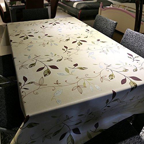 BLUELSS Tableau imprimé nappe en tissu de la table de Mariage Banquet Restaurant Accueil Table couvrant coton Floral chiffon,table carré 137x150cm