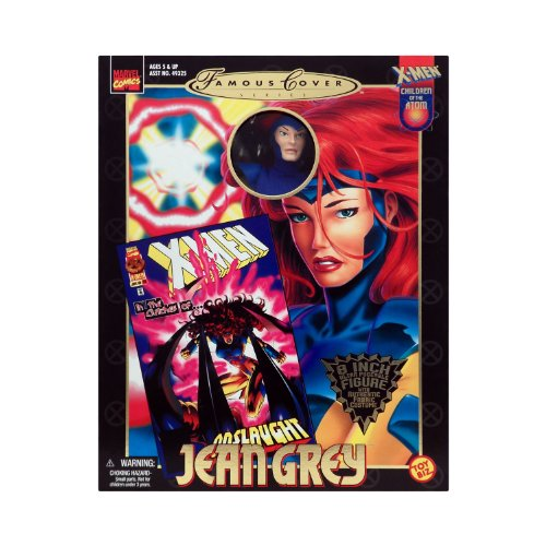 Marvel Comics 1999 Famous Cover 8 Inch Action Figure - JEAN GREY Ultra Poseable Figure with Authentic Fabric Costume