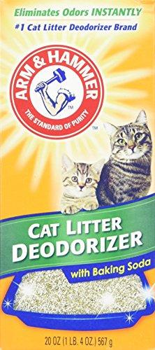 Arm & Hammer Gato Desodorante de la litera con Bicarbonato de Sodio Activado 20 oz (Paquete de 4)