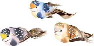 Artemio Lot de 3 Oiseaux sur Pince Multicolore 10 x 4,5 x 4cm