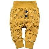 Pinokio - Secret Forest - Leggings mit elastischer Bund Jungen Unisex Baby Kinder Hosen mit Druck 95% Baumwolle Jogginghose Haremshose Gelb 56 62 68 74 80 86 92 98 cm (86 cm, Gelb)