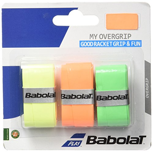 Babolat My Overgrip 3er orange, grün, Fluo gelb, One Size