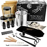 Luxury Candle Making Kit for Adults | DIY Soy Candle Making Kit with Glass Jars, Wood Candle Wicks, Cotton Wicks & Candle Accessory Set