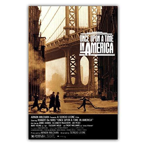 Érase una vez en América Película clásica Cartel Pintura Arte Cartel Impresión Lienzo Decoración para el hogar Imagen Pared -50x70cm Sin marco