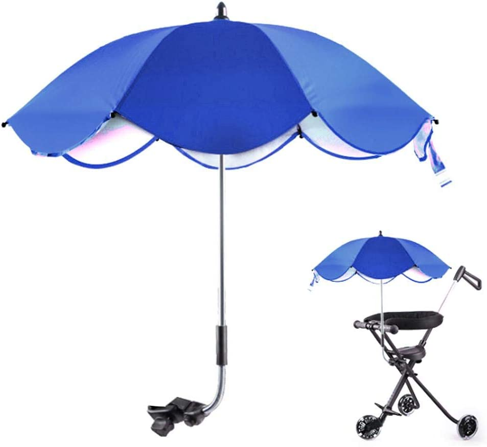 Diydeg Baby Carriage Sun Shade, Folding Non-Skid Anti-UV Stroller Sunshade Umbrella, for Strollers Bicycles