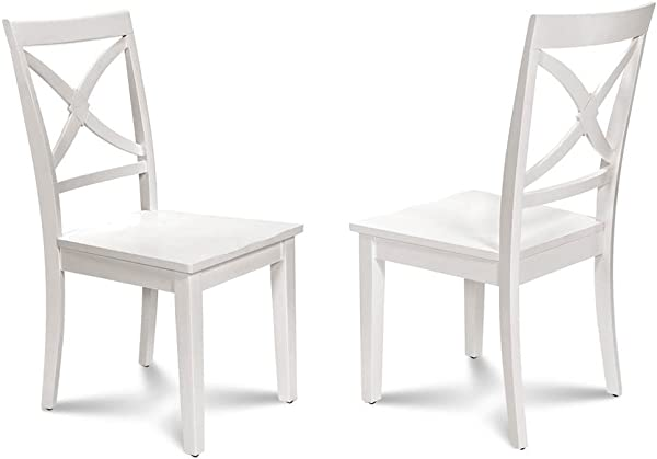 M D Furniture Dining Chair In White Finish Set Of 2