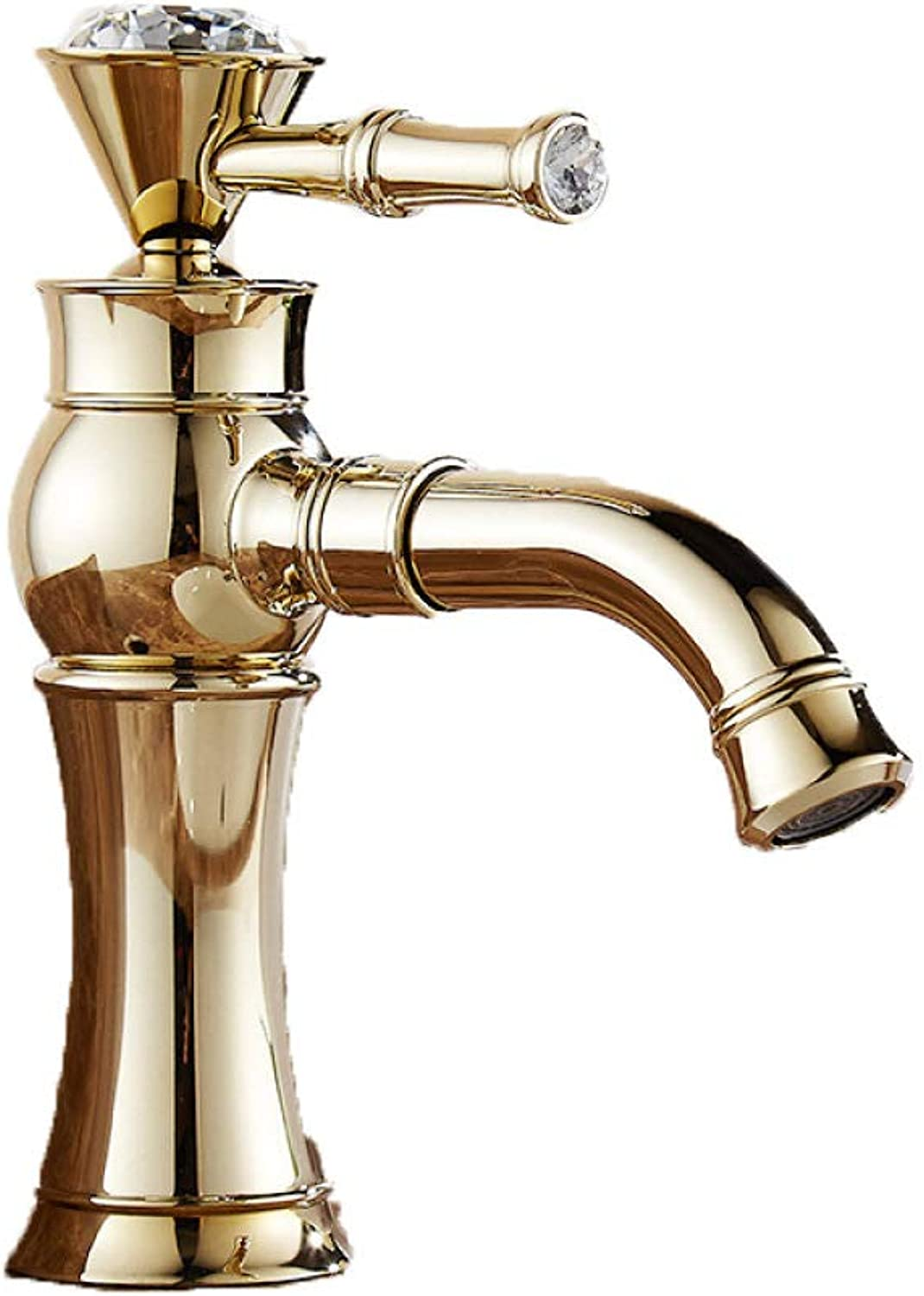 PZXY Faucet gold Faucet 360 Degrees redating All Copper Faucet Mouth Turn hot and Cold Basin Faucet