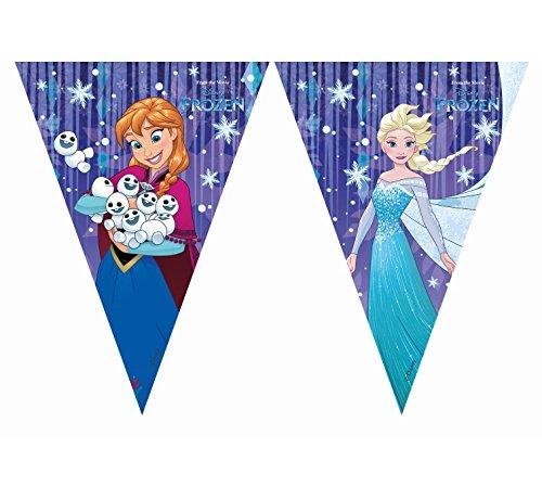 Folat B.V. Procos Frozen - Guirnalda de banderines Triangulares, diseño de Copos de Nieve