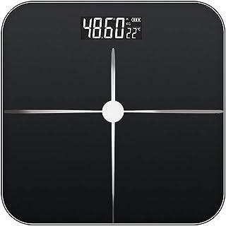 woyaochudan Báscula de Grasa Corporal, báscula de Peso Digital, medición precisa y Estable, Adecuada para Todas Las Personas, báscula electrónica multifunción Recargable con inducción automática